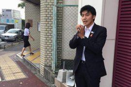 朝の駅頭活動 平和台駅 2016.8.24