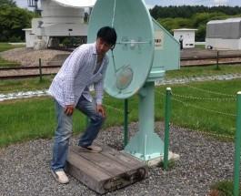 宇宙電波観測所視察
