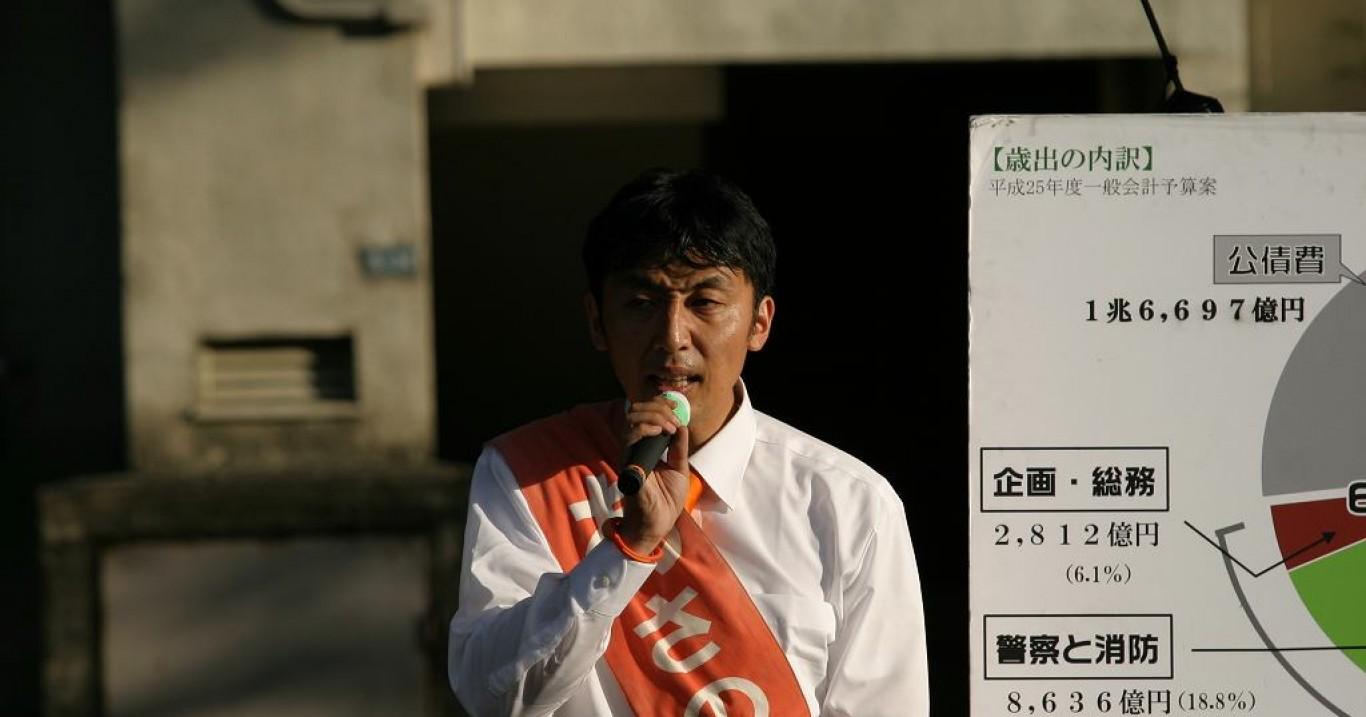 千川通り-街頭演説